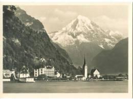 Switzerland, Fluelen And Mt. Bristenstock, Mini Photo [12611] - Other