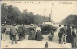 Cpa Caen 14 Calvados L' Arrivee Du Bateau Du Havre - Caen