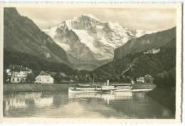 Switzerland, Schiffeinfahrt In Interlaken, Heimwehfluh Und Jungfrau Mini Photo [12615] - Other