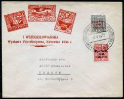 POLAND 1934 Phil. Expo - MI.285-286 On Commem. Cover - 1919-1939 Republic