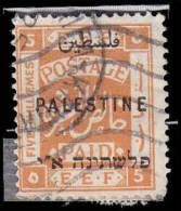 Palestine Scott # 52, 5m Orange (1922) , Used - Palestine