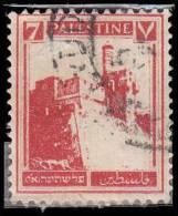 Palestine Scott # 69, 7m Deep Red (1927) Citadel At Jerusalem, Used - Palestine