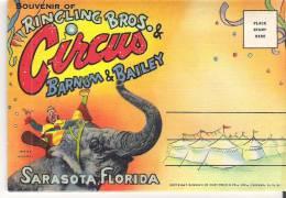Souvenir Folder Of Ringling Brothers & Barnum & Bailey Circus, Sarasota, Florida Winter Quarters - Sarasota