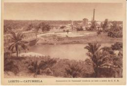 Lobito Angola, Catumbela, Railroad, Factory?, C1920s/30s Vintage Postcard - Angola