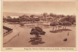 Lobito Angola, Salazar Plaza, Placa Dr. Oliveira Salazar Hotel Terminus, C1920s/30s Vintage Postcard - Angola