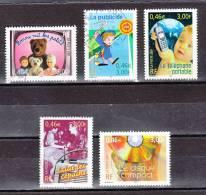 FRANCE / 2001 / Y&T N° 3372/3376 : Communication (5 TP) - Tous Cachets Ronds - France