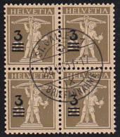Bloc De 4 Du No 180 Oblitéré Par Le Cachet De St.Gallen Le 28.VIII.1931 - Cote : 30.- - Suisse
