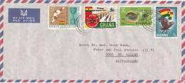 GNANA : Lettre 23 X 11 Cms. Oblitérée Le 23 Mars 1967 - Ghana (1957-...)