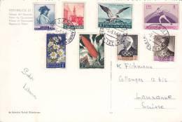 SAN MARINO : Affranchissement Sur Carte Postale 20 X 13 Cms. Oblitérée Le 5.3.1959 - Saint-Marin
