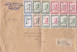 MAROC : Lettre  Recommandée 22 X 15 Cms.oblitérée Casablanca Bourse Le 22.8.1960 - Maroc (1956-...)
