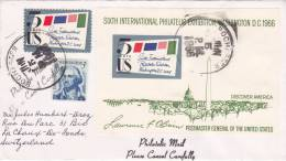 Sixth International Philatelic Exhibition Washington DC 1966 - 5 Jun 1966 - Ersttagsbelege (FDC)