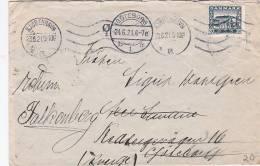 Denmark 1921 Cover From Falkenberg To Goteborg - Used Stamps