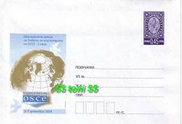 2004 12 Th OSCE Ministerial Counsel Postal Stationery BULGARIA / Bulgarie - Interi Postali
