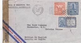 Guatemala 1944  Censored Cover To USA. - Guatemala