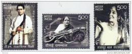 INDIA, 2010, Musicians, Set 3 V,   MNH, (**) - India