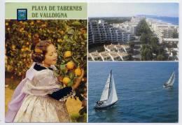 Espagne--PLAYA DE ABERNES DE VALLDIGNA--1993--Vues Diverses (costumes,dentelle,orange S),cpm N°3--timbre Europa Au Dos - Autres