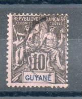 Guyane. Type Sage. 10c - Guyane Française (1886-1949)