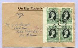 Brief Jamaika To British Virgin Islands Via St Thomas Queen Elizabeth Coronation 1953 ( 103 ) - Jamaica (1962-...)