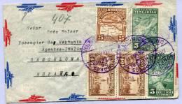 Air Mail Letter Venezuela To Barcelona ( 108 ) - Venezuela