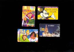 2 Telecartes DYSNEY + 2 Pass Eurodisney Dysneyland Paris 1998 2 Phone Cards + 2 Entrance Pass Dated 1998 - Disney
