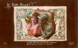 CPA Militaria,  Le Bon Billet ! ...couple - Andere
