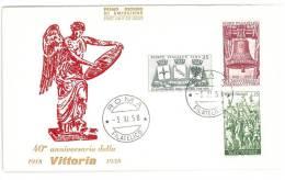 FDC -  -  40° ANNIVERSARIO DELLA RESISTENZA -   ANNO 1958  - ITALIA REPUBBLICA - FIRST DAY COVER - 6. 1946-.. Repubblica