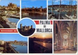 Espagne--PALMA DE MALLORCA---Recuerdo De Palma---Vues Diverses,cpm N° 15052  éd ICARIA - Palma De Mallorca