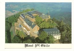 Cp, 67, Mont Sainte-Odile, Vue Aérienne Du Monastère, Au Fond, La Plaine D'Alsace - Sainte Odile