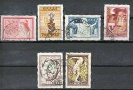 GRECE Produits Du Sol  1953 N°585-86-87-88-89-91 - Oblitérés