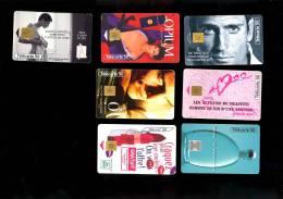 Lot 6 Telecartes Parfums Cosmétique Cacharel NAF NAF PACO RABANE YVES ROCHER LANCOME OPIUM ST LAURENT - Perfume