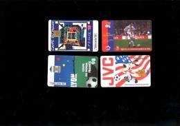 4 Telecartes OL FOOT OLYMPIQUE LYONNAIS Tirage 2250 Ex Steed Malbranque Quick Football Coupe Du Monde 98 LYON +USA 1994 - Sport