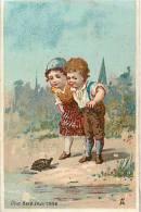 Nov12b 58 : Animaux  -  Tortue  -  Couple D'enfants - Chromo