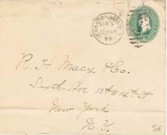 L-US63 - ETATS-UNIS Bel Entier Postal Enveloppe De 1899 - ...-1900