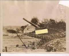 Mortiers Aisne Artillerie Lourde Sur Voie Férrée Alvf Us Army Signal Corps   Poilus 14-18 WWI Ww1 1wk 1914-1918 - War, Military