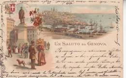 - GENOVA - UN SALUTO DA GENOVA VG   BELLA FTO D´EPOCA ORIGINLE 100% - Genova (Genoa)