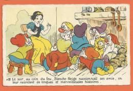 Q391, Blanche - Neige , 7 Nains, Walt Disney, Circulée - Non Classificati