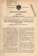 Original Patentschrift - F. Rieder In Mühle Loiching B. Dingolfing , 1904 , Reinigung Von Mühlbächen Und Flüssen  !!! - Historische Dokumente