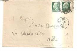 63192)lettera Con 2x25c Imperiale + Annullo Pola 19-1-1941 - Usati