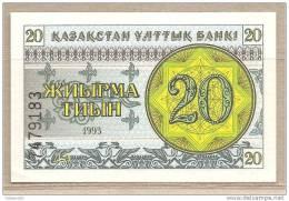 Kazakistan - Banconota Non Circolata FdS Da 20 Tiyin P-5a - 1993 - Kazakistan
