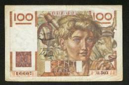 BILLET MONNAIE 100 FRANCS JEUNE PAYSAN TYPE 1945 FILIGRANE INVERSE Du 2.10.1952 N° 16607 O.503 TTB+ NOTRE SITE Serbon63 - 1871-1952 Anciens Francs Circulés Au XXème