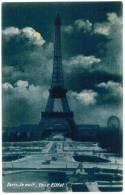 CPA Paris La Nuit, Tour Eiffel (pk6098) - Paris La Nuit