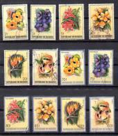 Burundi 1986,  Fleurs D'Afrique, Série 944 / 949 + PA553 / 558 Ø, Cote  72 €, - 1980-89: Oblitérés