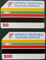 2 TELECARTES DE LITUANIE - Lithuania