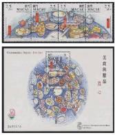 1999 MACAO Food 4v+MS - 1999-... Chinese Admnistrative Region