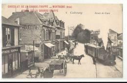 CABOURG : Train à Vapeur, Route De Caen (attelage à Cheval, Charrettes ...) - Cabourg