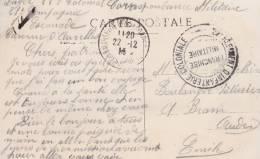 MARQUE POSTALE MILITAIRE ( 27 EME REGIMENT D´ INFANTERIE COLONIALE ) FRANCHISE POSTALE  1914 - Poststempel (Briefe)