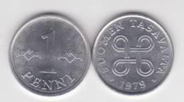 Finlandia 1 Penni 1.979 Aluminio KM#44A SC/UNC       T-DL-10.285 - Finlandia