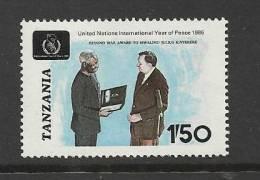 TANZANIA 1986 - INTERNATIONAL PEACE YEAR 1.50  - MNH MINT NEUF NUEVO - Vögel