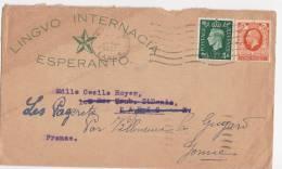 LETTRE  1937  ESPERANTO - Esperanto