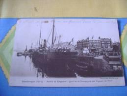 59 - DUNKERQUE - BASSIN DE FREYCINET - QUAI  DE LA COMPAGNIE DES VAPEURS DU NORD - Dunkerque